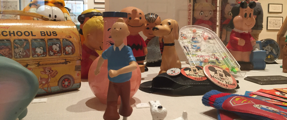 Display Case at Billy Ireland Cartoon Library and Museum